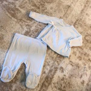 Ralph Lauren baby kimono w/mittens & footie pants